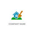 home garden tool logo vector image