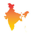 india map colorful orange vector image