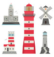 lighthouses flat searchlight towers for vector image