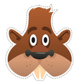 Mask beaver vector image vector image