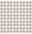 Monochrome seamless stylized flower pattern vector image vector image
