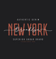 new york t-shirt design brooklyn vintage denim vector image