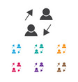 of job symbol on sharing icon vector image