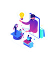 online education - modern colorful isometric vector image vector image