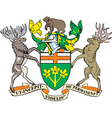 Ontario Province Coat-of-Arms vector image vector image