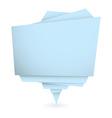Origami blue element