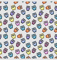 owl seamless pattern vector image