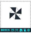 Paper windmill icon flat vector image vector image