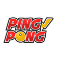ping-pong competition big creative promotional vector image