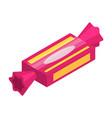pink sweet bonbon icon isometric style vector image vector image