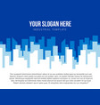 poster template with blue city skyline vector image vector image