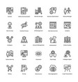project management line icons set 16 vector image vector image