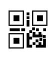 qr code- black linear qr code vector image