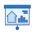real estate market line icon vector image vector image