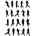 running people silhouette