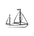 sail boat isolated vector image vector image