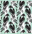 seamless pattern of birds similar to magpie vector image