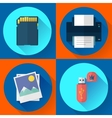 set computer icons of photo print vector image vector image