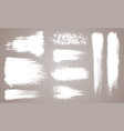 set grunge artistic brush strokes vector image vector image