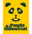 simple sign a panda - industrial design template vector image vector image