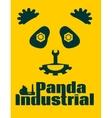 simple sign a panda - industrial design template vector image