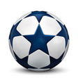 soccer ball football ball with blue stars vector image vector image