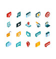 social media isometric icons collection vector image vector image