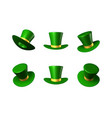 st patricks day green hat with a gold ribbon vector image
