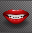 stylish woman lips slightly open mouth fashion vector image