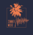 summer music modern poster with palm tree vector image vector image