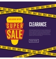 Super sale website template with text vector image vector image