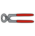 the red splitting pliers vector image vector image