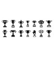 trophy cup icon set simple style vector image vector image