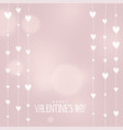 valentines day hearts background in soft colors vector image