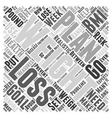 Weight Loss Plan Word Cloud Concept vector image vector image