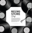world record store day retro design template vector image vector image