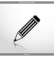 pencil web flat icon vector image