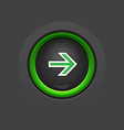 circle dark glossy arrow button vector image