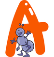 A for ant vector image