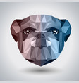 abstract polygonal tirangle animal bulldog vector image vector image