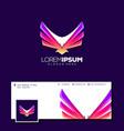 awesome eagle logo design vector image vector image