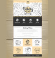 bakery menu concept web site design corporate vector image vector image