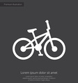 bike premium icon white on dark background vector image