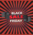 black friday sale banner layout design vector image
