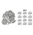 calendar ball of yarn vector image vector image