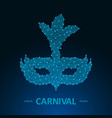 carnival mask made points and lines brazil vector image vector image