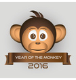 chimpanzee little monkey head and year of the vector image vector image