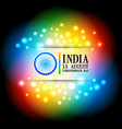 colorful indian flag design vector image vector image