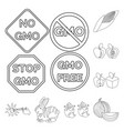 design genetic and science logo set of vector image vector image