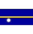 Flag of Nauru vector image